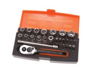 Socket Set of 25 Metric 1/4in Drive